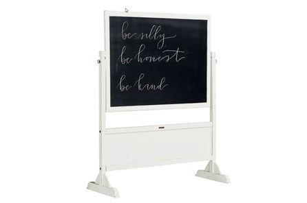 Magnolia Home Homeroom Jo'S White Standing Chalkboard By Joanna Gaines - Main