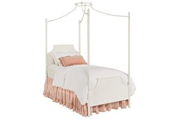 Magnolia Home Manor Jo'S White Twin Iron Canopy Bed By Joanna Gaines