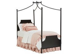 Magnolia Home Manor Blackened Bronze Twin Iron Canopy Bed By Joanna Gaines