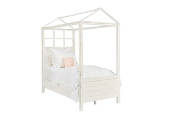 Magnolia Home Playhouse Jo'S White Full Canopy Bed By Joanna Gaines