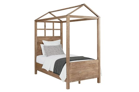 Magnolia Home Playhouse Salvage Full Canopy Bed By Joanna Gaines - Main