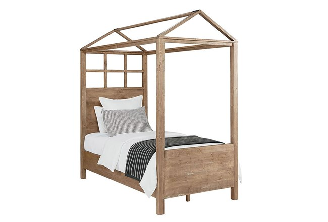 Magnolia Home Playhouse Salvage Full Canopy Bed By Joanna Gaines ...