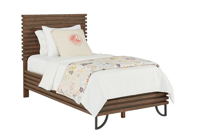 Magnolia Home Stacked Slat Twin Panel Bed By Joanna Gaines - 360