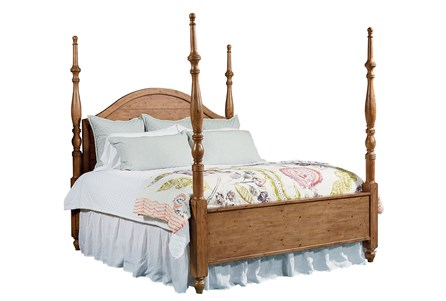 Magnolia Home Camelback Queen Poster Bed By Joanna Gaines