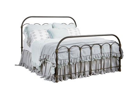 Magnolia Home Colonnade Queen Metal Panel Bed By Joanna Gaines