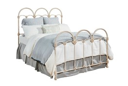 Magnolia Home Rosette Iron Eastern King Panel Bed By Joanna Gaines