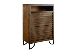 Magnolia Home Stacked Slat Chest Of Drawers By Joanna Gaines
