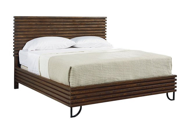 Magnolia Home Stacked Slat Eastern King Panel Bed By Joanna Gaines - 360