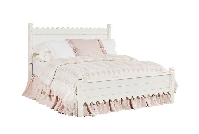 Magnolia Home Scallop Eastern King Panel Bed By Joanna Gaines - 360