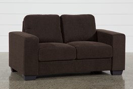 Jobs Dark Chocolate Loveseat