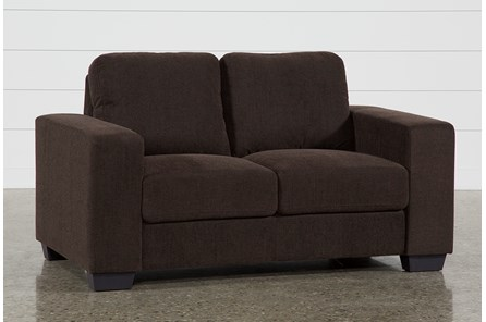 Jobs Dark Chocolate Loveseat - Main