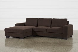 Jobs Dark Chocolate 2 Piece Sectional With Left Facing Chaise