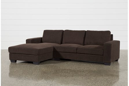Jobs Dark Chocolate 2 Piece Sectional With Left Facing Chaise - Main