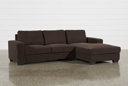 Jobs Dark Chocolate 2 Piece Sectional With Right Facing Chaise