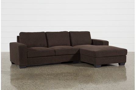 Jobs Dark Chocolate 2 Piece Sectional With Right Facing Chaise - Main