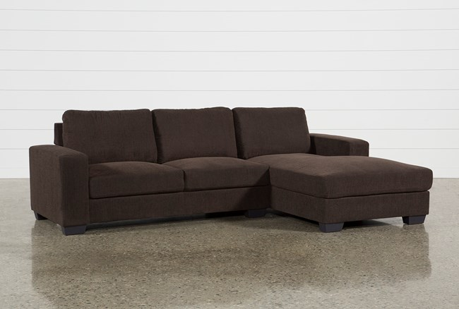 Jobs Dark Chocolate 2 Piece Sectional With Right Facing Chaise - 360