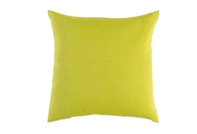 Outdoor Accent Pillow Solid Lime 16x16 Living Spaces