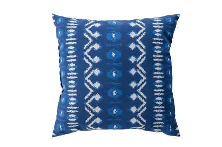 Outdoor Accent Pillow-Indigo Batik 18X18 - Main