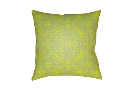 Outdoor Accent Pillow-Henna Pattern Lime 18X18