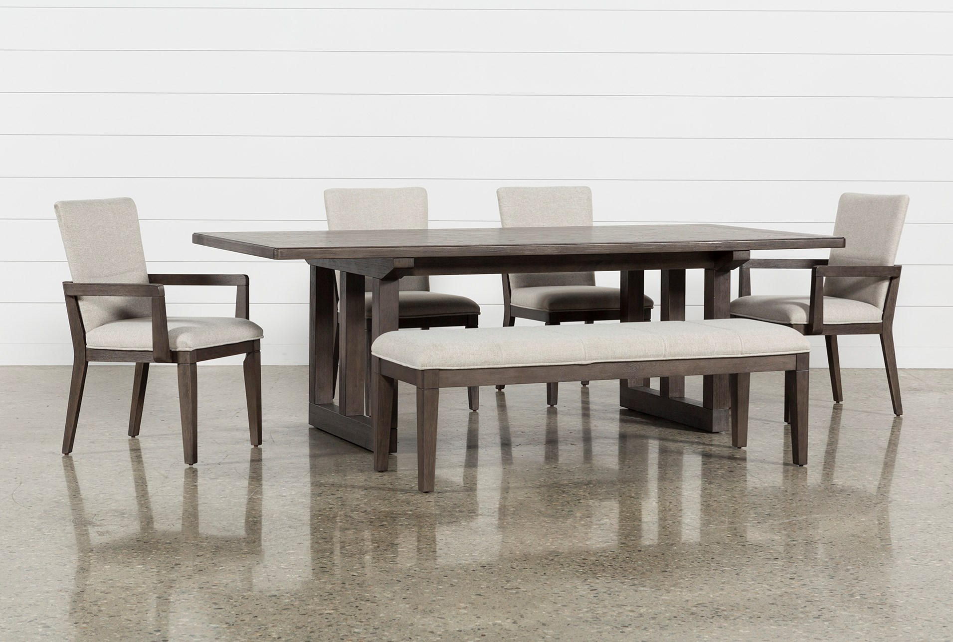 Helms 6 Piece Rectangle Dining Set Living Spaces
