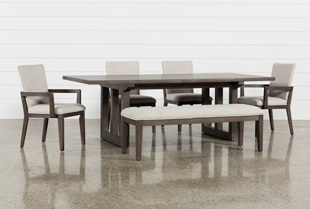 Helms 6 Piece Rectangle Dining Set