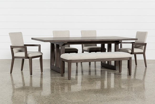 Helms 6 Piece Rectangle Dining Set - 360