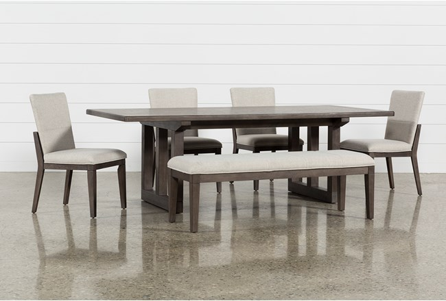 Helms 6 Piece Rectangle Dining Set With Side Chairs - 360