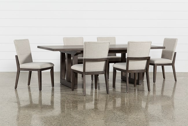 Helms 7 Piece Rectangle Dining Set With Side Chairs - 360