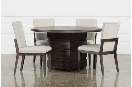 Helms 5 Piece Round Dining Set With Side Chairs