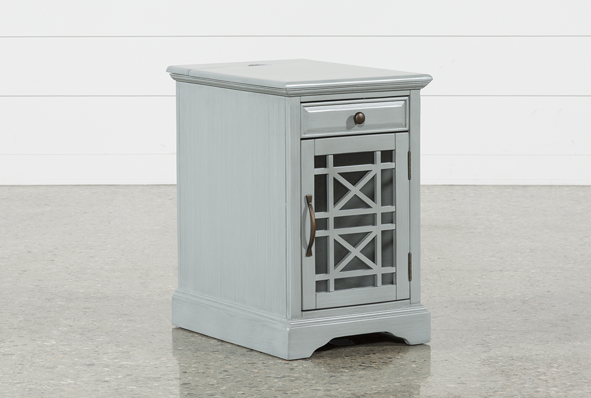 Annabelle Earl Grey Power Chairside Table