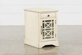 Annabelle Antique Cream Power Chairside Table