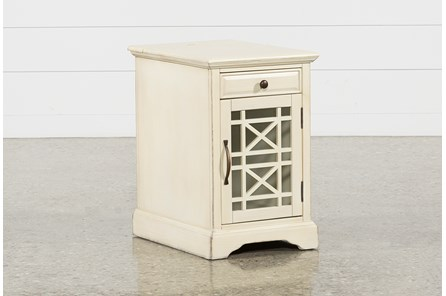 Annabelle Antique Cream Power Chairside Table - Main