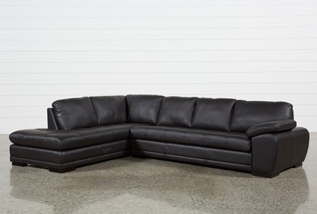 Vaughn Java 2 Piece Sectional With Left Facing Chaise