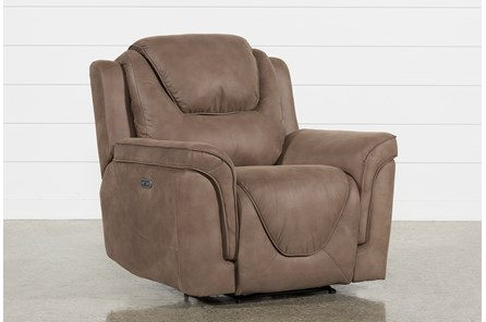 Denver Fawn Power Recliner With Power Headrest & Usb