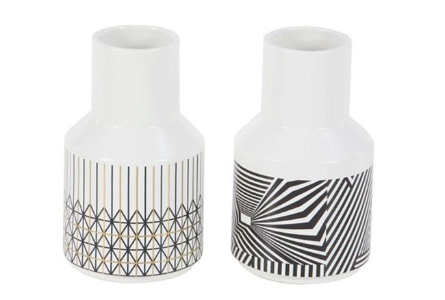 9 Inch Geo Pattern Vase Assorted - 360