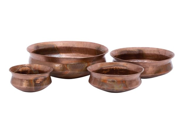 Metal Planters Assorted Sizes Set Of 4 - 360