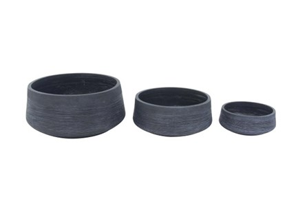 Fiber Clay Planter Assorted Sizes Set Of 3 - Main
