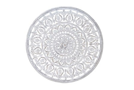 Round Wood Carved Wall Decor