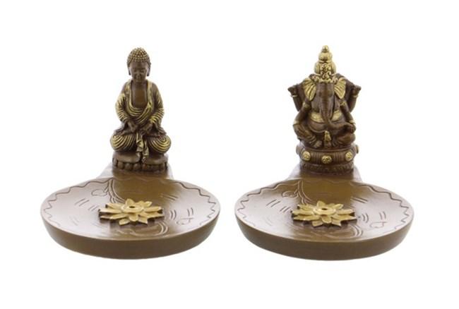 Buddha Incense Holder Assorted Set Of 2 - 360