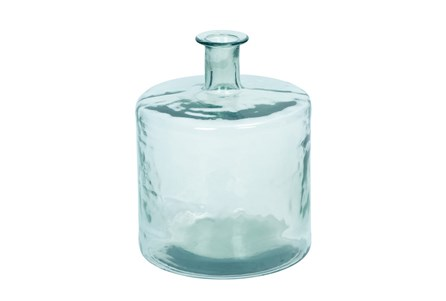 17 Inch Square Clear Glass Jug