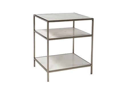Iron Marble Side Table