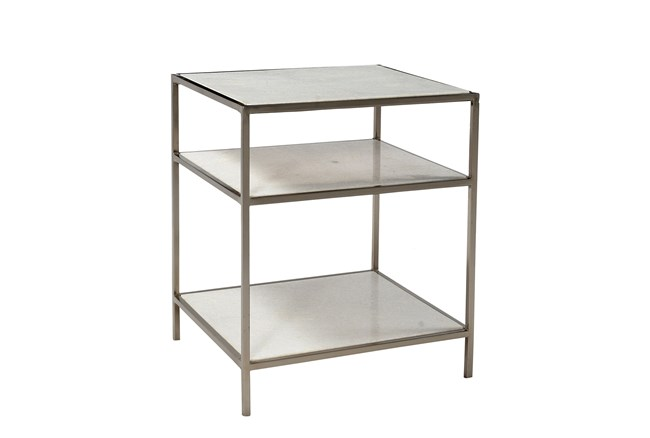 Iron Marble Side Table - 360