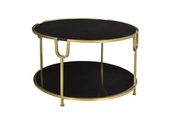 Iron Marble Coffee Table - 360