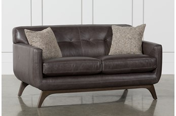 "Cosette Leather 61"" Loveseat"