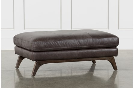 Cosette Leather Cocktail Ottoman