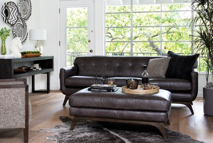 Cosette Leather Sofa Living Es