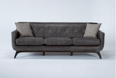 """Cosette Leather 87"""" Sofa"""