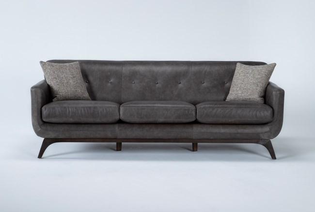 """Cosette Leather 87"""" Sofa - 360"""