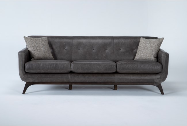 "Cosette Leather 87"" Sofa - 360"