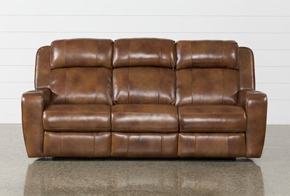 Awesome Phelps Leather Power Reclining Sofa With Power Headrest Usb Bralicious Painted Fabric Chair Ideas Braliciousco
